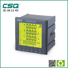 three phase three/ four wire multifunction digital power meter RS485 LED /LCD display