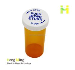 Amber child resistant vials