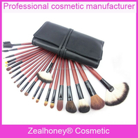 New fashional 21 pcs promotional makeup kits full size Wind red Charming makeup brush in empty pouch Make up brushes