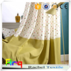Environment friendly Linen polyester blend fabric with new wave dots design Children room curtain, cushion fabric