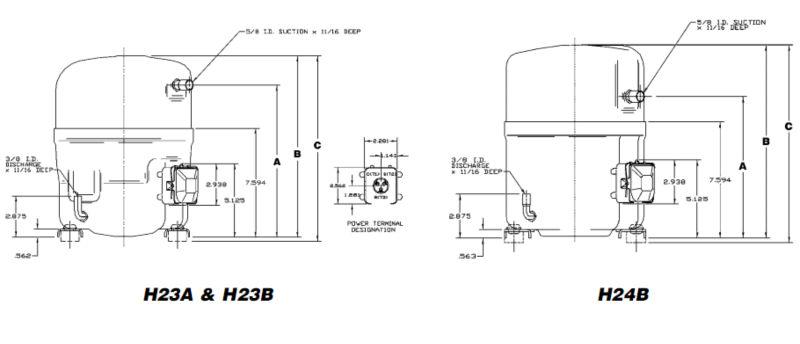 Piston Bristol Compressor,hermetic bristol compressor,10hp bristol compressor H2NG184DPDFR