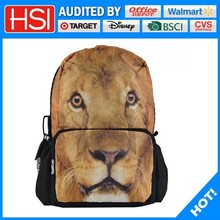 animal lover's best choice polyester printing lion backpack