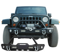 07-15 Jeep Wrangler JK Offroad Front Bumper with LED Lights