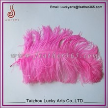 Taizhou Lucky Arts Wholesale good quality pink ostrich feather weeding decorations