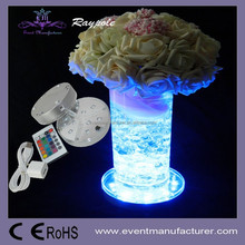 Wholesales crystal table centerpiece wedding supplies 4 inch LED vase base