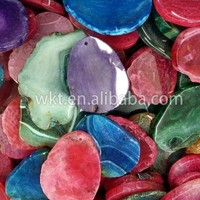 Natural chunky agate stone in many colors, cabochon jewelry stone agate WT-G043