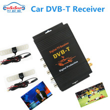 250km/h car dvb-t tv dual tuner receiver box with 4 video ouputs