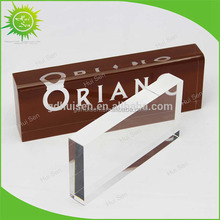 Hot Sale Clear Acrylic Blocks lucite Logo Name Block for office display