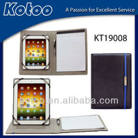 Genuine leather portfolio for ipad 3 case
