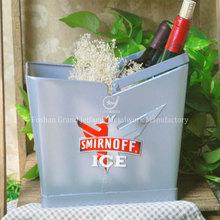 Hogar barware de metal de aluminio cubo de hielo con mango