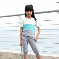 hot sale colorful stripe children clothing sets wholesale