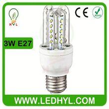 3W AC85-265V 50/60Hz 3014 SMD High Bright E27 3w edison corn bulb led corn light bulb