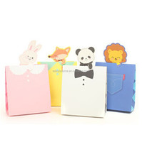recyclable decorative paper bag panda fox rabbit animal lovely kids favor gift bags