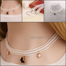 2015 Sexy White Lace Collar Necklace For Young Girls