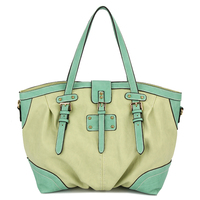 Stylish Color Match Famous Brand Women Shoulder Bag