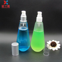 150ml bowling shape glass lotion bottle liquid bottle with pump sprayer
