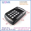 abs plastic Black color enclosure for GPS tracker box with keypad housing of electronics