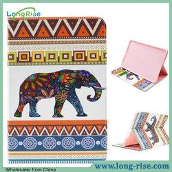 Colorful Tribal Elephant Pattern Side Open Flip Leather Tablet Case for iPad Mini 4 Case