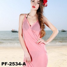 New 2015 shawl lady women lage long condole belt prevented bask chiffon beach towels pure color pink shawl PF-2534-A