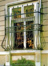 Hot sale iron window design/wrought iron window guard