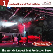 Outdoor exhibition and display marquee curve tent with curved roof design