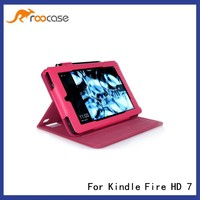 roocase Kindle Fire HD 7 2014 leather Case, new table cover for Kindle Fire HD 7,Magenta