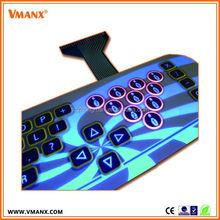 Guangdong wholesale Emboss tactile numeric push button gaming membrane switch keypad keyboard