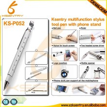 Promotion gift 8 in 1 tool pen with bottle opener+ruler+stand+ball pen+screw driver+car brand logo