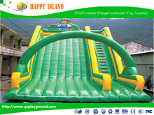 Factory price ben 10 inflatable bouncing castle for sale Bouncer Castle Green Inflatable Slide
