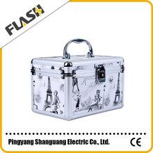 Hard Makeup Case China Market Metal Aluminum Cosmetic Case