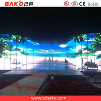 P4.8 indoor SMD led screen display advertising costume fashion stage show rental die casting brush aluminum iron steel cabinet