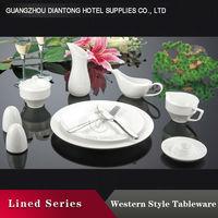 2015 white ceramic western style dinnerware