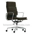venta caliente eames respaldo alto silla cojín suave pu/material de cuero genuino con suave cusion sillón silla oficina