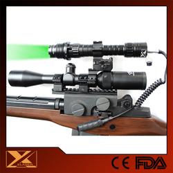 High power subzero zoomable beam adjustable green laser illuminator