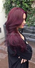Alibaba factory price Top Beauty brazilian virgin remy human purple wig