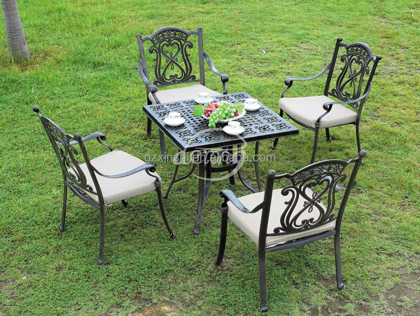 Patio fonte d'aluminium meubles jardin utilisation table ...