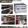 Hot 6 Burner Commercial Gas Cooking Range with CE certificate