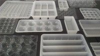 food grade PP disposable plastic frozen/biscuit food insert packaging trays