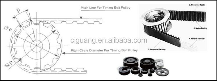 aluminium xl timing belt pulley