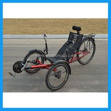 direct steering tadpole adult recumbent tricycle