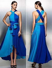 China New OEM Women Evening Dress Tea-Length Sexy Chiffon One Shoulder Backless Party Summer Prom Dresses C47-2