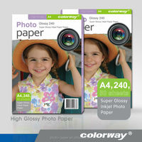 Factory supply! A4 Size high glossy inkjet photo paper Waterproof glossy photo paper Inkjet coated paper For Dye Ink