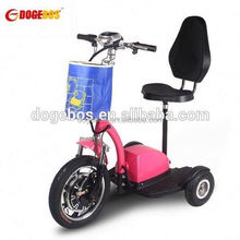 Trade Assurance 350w/500w lithium battery retro boards kickboar 3-wheel scooter with front suspension