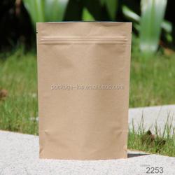 eco-friendly kraft paper plastic bag for food packaging