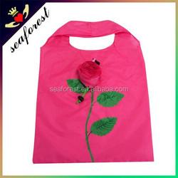 Best selling cheap rose foldable shopping bag