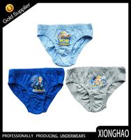 Top ten selling various colors boys comfortable kids thong underwear