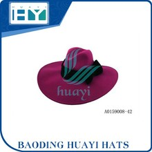 Factory Price floppy wool felt lady hat