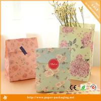 Fashion flower kraft gift paper bag price, paper bag making machine