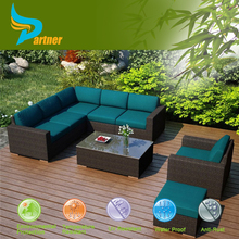 L-shaped Sectional Outdoor Furniture PVC Wicker Cheap Price Corner Sofas Outdoor Furniture Rattan Sofa Set
