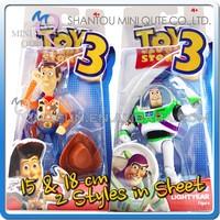 MINI QUTE 15 & 18 cm Toy Story Woody & buzz lightyear toys Western cartoon action figures brinquedos boys toys NO.MQ 121
